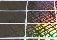 Sécurité Étiquettes Dameur Résistant Sticker Autocollants Hologramme € Euro