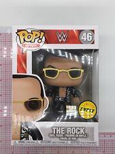 Funko Pop Wwe #46 The Rock (Black Jacket) 2017 Chase Edition Box Damage A03