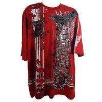 SOUTHPOLE MEN'S BIG AND TALL RED GRAPHIC TEE STYLE 17327-1033 (3XB - 6XB)
