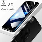 For Apple iPhone X 3D Full Cover Front + Back Tempered Glass Protective Film