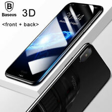 For iPhone X 10 White 3D Full Cover Front + Back Tempered Glass Protective Film