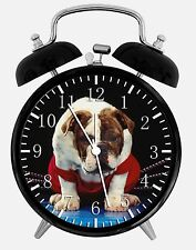 "Cute English Bull Alarm Desk Clock 3.75"" Home or Office Decor W217 Nice For Gift"