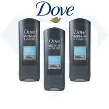 Dove Men Care Clean Comfort Body Face Wash Shower Gel Caring Formula 3 x 250ml