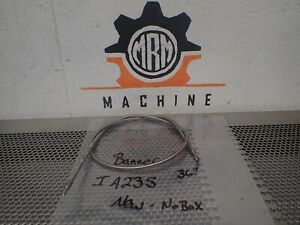 """Banner IA23S Fiber Optic Cable 36"""" Length New Old Stock"""