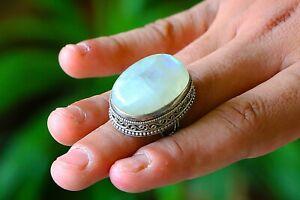 Moonstone Engagement Ring, Top Natural Certified Gemstone