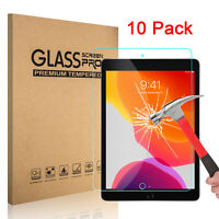 10 Pack Tempered Glass Screen Protector For iPad 10.2 inch 2019 7th Generation