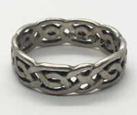 PSCL Peter Stone Designer Sterling Silver Ring 925 Size 6.5 Band Celtic