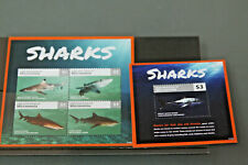 MICRONESIA - PAIR OF SHARKS MINIATURE SHEETS - UNMOUNTED MINT