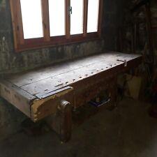 Banco da falegname bancone tavolo antico restaurato
