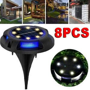 LED Solar Power Ground Lights Floor Decking Outdoor Garden Lawn Path Lamp Decor
