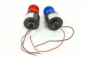 LOT OF 2. TOMAR 495S-1280 MICROSTROBE IV.  RED & BLUE, 12-80VDC, 16-24VAC, MALE