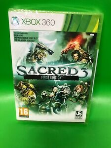 XBOX 360 GAME sacred 3 FIRST EDITION - BRAND NEW & SEALED Xbox One Compatible