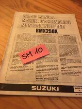 Suzuki RMX250K RMX250 K RMX 250 instruction preparation setup manuel montage