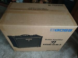 Boss Katana-50 MkII 50W Combo Guitar Amplifier, brand new, full warranty