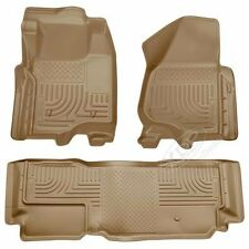 FITS 11-16 FORD SUPER DUTY HUSKY LINER WEATHERBEATER COMBO TAN EXSTENDED CAB..