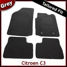 Citroen C3 Mk1 2002-2010 Fully Tailored Fitted Carpet Car Floor Mats GREY