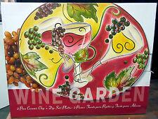 NUEVO Vino Garden morado uva 2 Piece Cerámica CHIP'N de SUMERGIR EN Tinta Juego