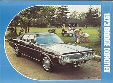1973 Dodge Coronet Sales Brochure Coronet/Custom