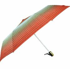 Cool Rainy Printed Colorful Horizontal Stripes 3 Folds Automatic Umbrella (Red)