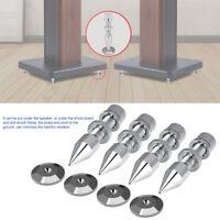 4Pcs Speaker Spike Isolation Stand Foot HiFi Speaker Shockproof Cone Base Pads