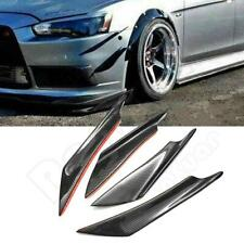 4PCS Universal Car Front Bumper Lip Splitter Fins Body Spoiler Canards Refit Kit