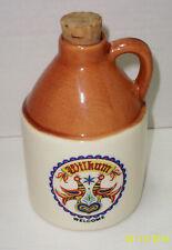 "Pennsylvania Dutch Country 5"" JUG Pottery Stoneware -Hexologi Wilcum "" WELCOME"""