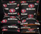 8 ALL WEATHER CORNHOLE BEANBAGS made w SAN FRANSISCO 49ers Fabric ACA Reg Bags