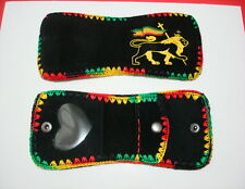 """Rasta Colors embroidered Lion of Judah - leather Wallet for women """" NEW """""""