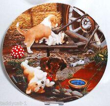 Die kleinen Strolche 1. Bradex Hunde Sammelteller WER KRIEGT DEN BALL