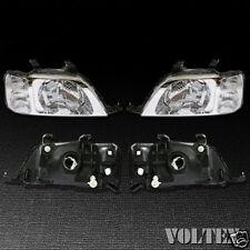 1997-2001 Honda CR-V Headlight Lamp Set of 2 Clear lens Halogen LH RH Pair