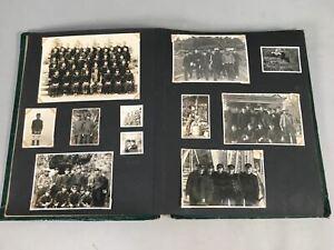 Japanese Photo Album Vtg School Group Student Boy Adult 111pc AB90