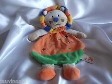 Doudou lion orange, vert, Nicotoy, Kiabi, Blankie/Lovey/Newborn toy