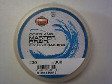 Cortland MASTERBRAID 30lb. 300 yard spool Yellow Fly Line Backing