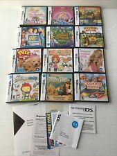 Huge Lot Nintendo DS Instruction Manuals Artwork & Inserts Petz Barbie Garfield