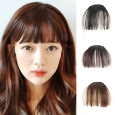 Clip in Fringe Front Neat Bangs Synthetic Hair Bangs Extension Hairpiece New