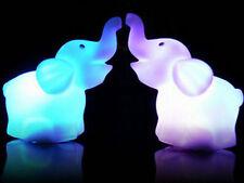 Cut Romantic Elephant Color Changing LED Night Light Lamp Home Kids Room Decor