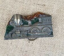 Vintage Capt Hawks Sky Patrol belt buckle locomotive train 1977 enamel