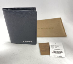 NWT BURBERRY card case BIFOLD wallet men Leather Women MsrP $280 Deal RARE!