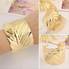 Leaf Shape Gold Plated Cuff Bracelet Bangle Party GIft Alloy Fashion Jewelry NEW