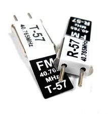 RC 40 MHz 40.765 FM Cristal TX & RX Receptor 40 MHz Negro canal 57