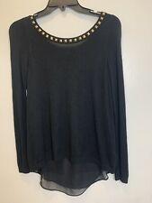 Express Women's Black Sweater Dressy Top Small