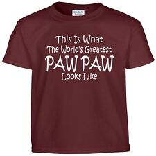 Worlds Greatest PAW PAW Fathers Day Birthday Christmas Gift Funny Tee T Shirt