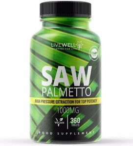 Pure Saw Palmetto 2000mg Vegan Tablets | Male Prostate, Urinary Tract Hair Loss