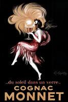 Leonetto Cappiello Cognac Monnet Sunset In A Glass Vintage Advertising Art Print