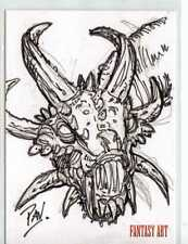 Fantasy Art Sketch Card by Terry Pavlet /2 - Unstoppable Loaded Pack Release