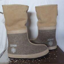 žďár natural sascha handmade wolle/lammfell winterstiefel boots us10 eu40 neu 379