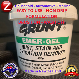 Cleaner Rust Stain Oxidation Remover Metal Fabric Wood Masonry Automotive Marine