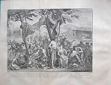 1770  ANTIQUE PRINT -BIBLE- AND GOD LOOKED UPON THE EARTH AND BEHOLD IT WAS CORR