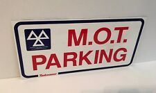 MOT Parking sign Used Plaque Sign Bar Pub Club Wall Home Den Man Cave Decor