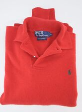 Polo Ralph Lauren 100% Lambswool Mother of Pearl Buttons Red Pony Sweater Medium